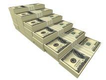 安排作为查出的美元堆积楼梯 免版税图库摄影