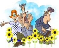 安排春天被反弹 免版税库存图片