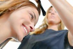安排的妇女头发做 库存照片