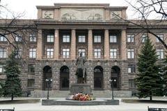安排茹科夫的纪念碑在的叶卡捷琳堡 图库摄影