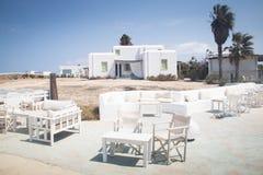 安提帕罗斯岛的,希腊典型的宾馆 免版税库存图片