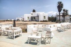 安提帕罗斯岛的,希腊典型的宾馆 库存图片