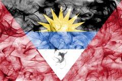 安提瓜和巴布达烟旗子 库存照片