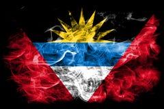 安提瓜和巴布达烟旗子 免版税库存图片