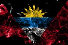 安提瓜和巴布达烟旗子 免版税库存照片