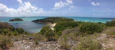 安提瓜岛山景加勒比海 库存图片
