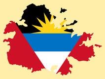 安提瓜岛巴布达映射 免版税图库摄影