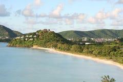 安提瓜岛椰树旅馆手段 库存图片