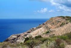 安提瓜岛海岸海岛 图库摄影