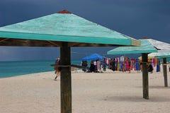安提瓜岛海滩 免版税库存图片