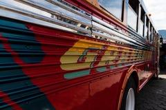 安提瓜岛的公共汽车 免版税图库摄影