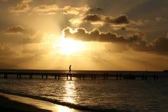 安提瓜岛鸽子海滩 免版税库存图片