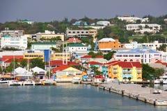 安提瓜岛-圣约翰斯江边码头 免版税图库摄影