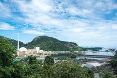 安格拉核电厂,里约热内卢,巴西 免版税图库摄影
