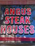 安格斯牛排议院 库存照片