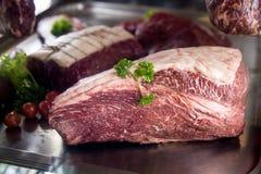 黑安格斯牛肉Chuck 免版税库存图片