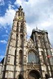 安特卫普圣母大教堂在历史市中心在安特卫普 库存图片