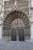 安特卫普大教堂门户 免版税库存图片