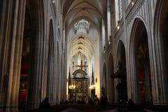 安特卫普大教堂 库存图片