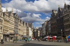 安特卫普市,比利时,历史老城市 库存图片
