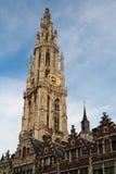 安特卫普比利时钟塔 库存照片