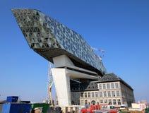 安特卫普港的新的港口办公室在比利时 库存照片