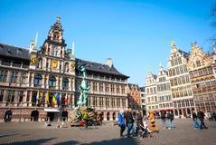 安特卫普老镇,比利时 免版税库存照片