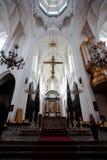 安特卫普,比利时- 2011年6月19日:我们的夫人大教堂的内部  库存照片