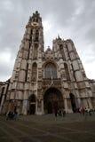 安特卫普,比利时- 2011年6月19日:我们的夫人大教堂  免版税库存图片