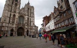 安特卫普,比利时- 2011年6月19日:我们的夫人大教堂  免版税图库摄影