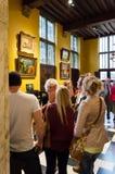 安特卫普,比利时- 2015年5月10日:旅游参观Rubenshuis (鲁宾议院)在安特卫普 库存照片