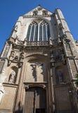 安特卫普-哥特式南门户圣Jacobs教会(Jacobskerk) 库存图片