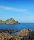 安特里姆堤道巨人北的爱尔兰 免版税库存图片