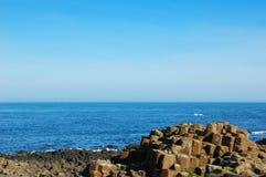 安特里姆堤道巨人北的爱尔兰 免版税库存照片