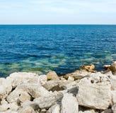 安特里姆海岸 免版税库存照片