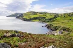 安特里姆郡,北爱尔兰,英国北海岸  库存照片