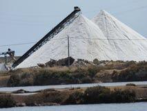 安的列斯群岛博内尔岛加勒比荷兰语提取海岛山盐 免版税库存照片