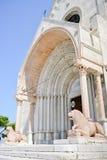 安科纳中央寺院的protiro的大理石狮子  库存照片