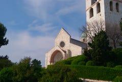 安科纳大教堂意大利老塔 免版税库存照片