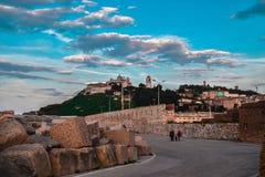安科纳,马尔什,意大利都市风景 免版税库存照片
