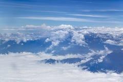 安第斯山脉窗口平面视图  免版税库存图片