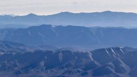 安第斯山脉窗口平面视图  库存照片