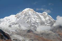 安纳布尔纳峰基本的阵营 尼泊尔 库存图片