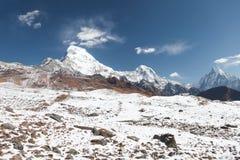 安纳布尔纳峰基本的阵营 尼泊尔 免版税图库摄影