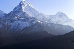 安纳布尔纳峰景色, Poon小山,尼泊尔 图库摄影