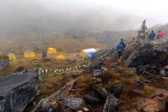 安纳布尔纳峰营地,喜马拉雅山,尼泊尔 库存图片