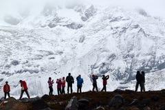 安纳布尔纳峰营地,喜马拉雅山,尼泊尔 免版税库存图片