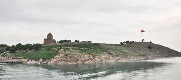 """安纳托利亚â€的""""范,土耳其亚美尼亚教会Achdamar 库存图片"""
