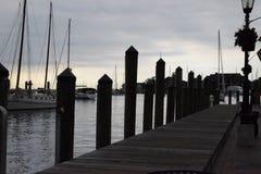 安纳波利斯小游艇船坞 库存图片