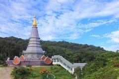 安置休闲旅行,土井Inthanon国家公园泰国 免版税库存图片
